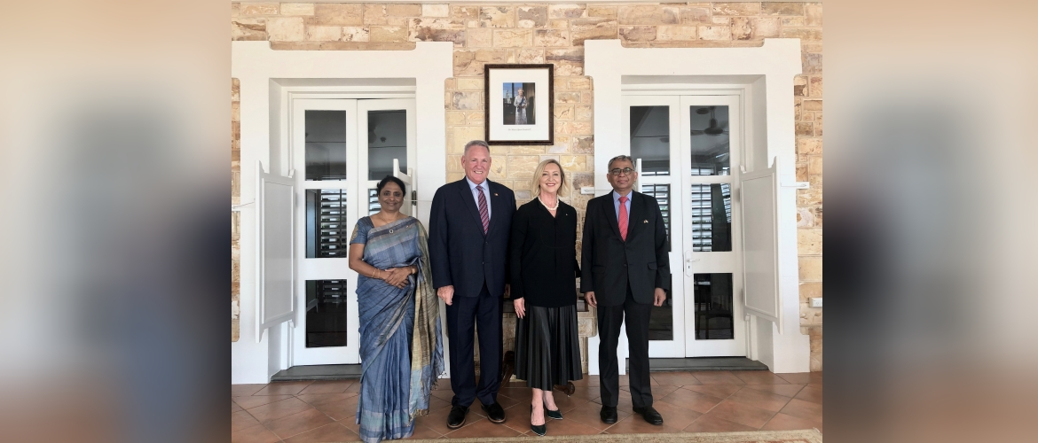 High Commissioner of India to Australia, H.E. Mr A. Gitesh Sarma paid a courtesy call on Her Honour the Honourable Vicki O'Halloran AO, Administrator of the Northern Territory