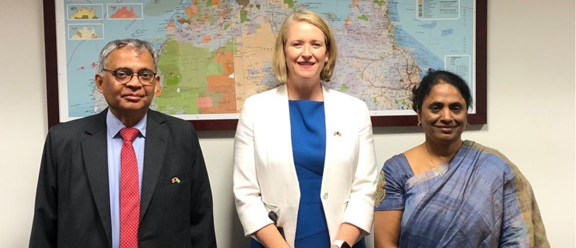 H.E. Mr A. Gitesh Sarma paid a courtesy call on Hon Nicole Manison, Deputy Chief Minister of NT; Treasurer; Minister for Police, Fire and Emergency Services; Minister for Multicultural Affairs.