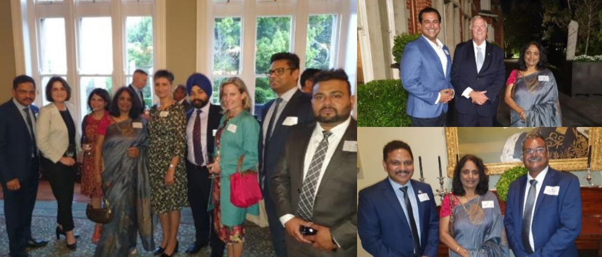 Consul General at reception hosted by The Honourable Kim Beazley AC, Governor of Western Australia at Government House  for Australian High Commissioner to India, Ms Harinder Sidhu