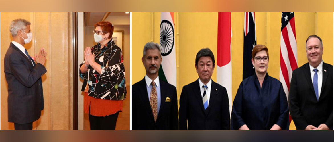 External Affairs Minister Dr. S. Jaishankar met Marise Payne, Foreign Minister of Australia along the lines of QUAD 2020.