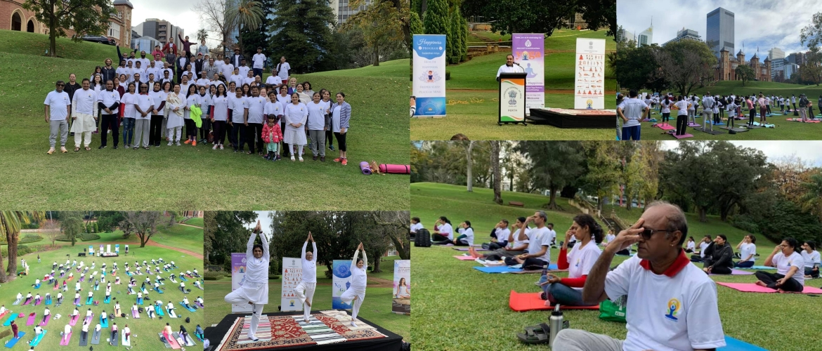 5th International Day of Yoga celebrations in Perth
